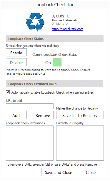 Loopback Check configuration Tool released – free download